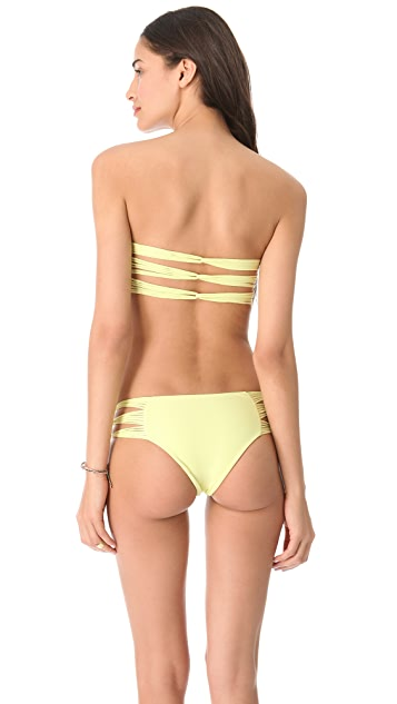 MIKOH Sunset Looped Bandeau Bikini Top