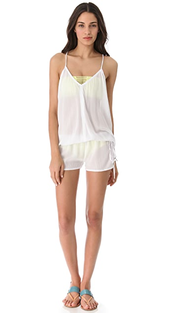 MIKOH Jaws V Neck Romper