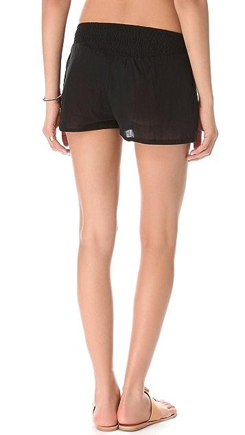 MIKOH Sayulita Ruched Shorts