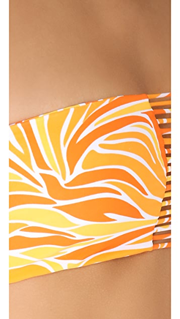 MIKOH Sunset Triple Looped Bikini Top