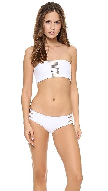 MIKOH Sunset Skinny String Bandeau Bikini Top
