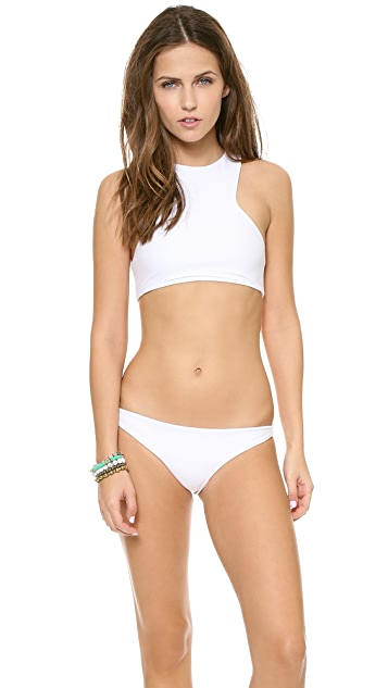MIKOH Barbados Cutout Racer Back Bikini Top