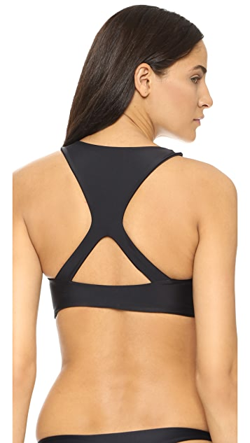 MIKOH Barbados Cutout Sport Bikini Top