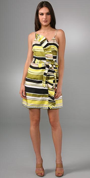 Milly Ruffle Harbor Stripe Dress