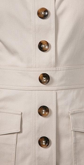 Milly Cargo Pocket Mini Dress
