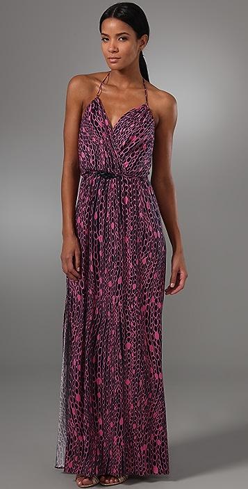 Milly Chain Print Halter Maxi Dress