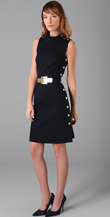 Milly Belted Side Button Dress