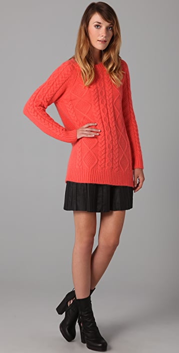 Milly Susan Cable Knit Sweater
