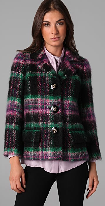 Milly Stanley Plaid Jacket