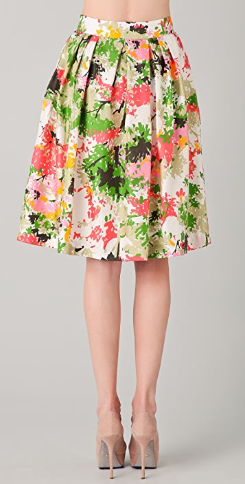 Milly Bianca Birch Tree Print Skirt