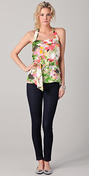 Milly Sammie Birch Tree Print Top