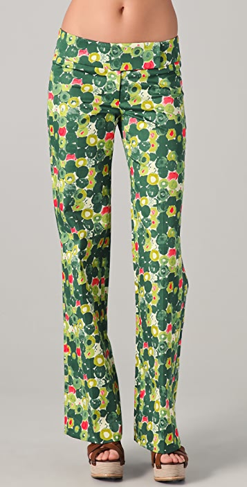 Milly Pima Print Trousers