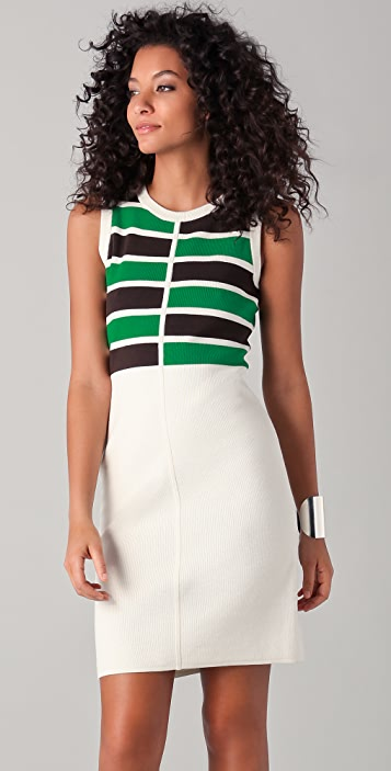 Milly Eliza Striped Knit Dress