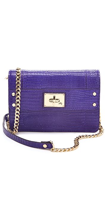 Milly Gabrielle Embossed Iguana Mini Bag