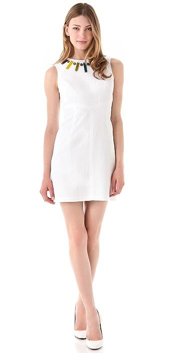 Milly Beaded Sheath Dress