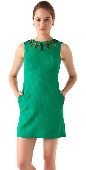 Milly Beaded Sheath Dress