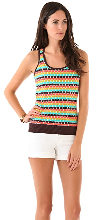 Milly Honeycomb Racer Back Tank