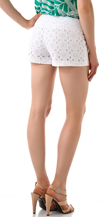 Milly Floral Eyelet Beach Shorts