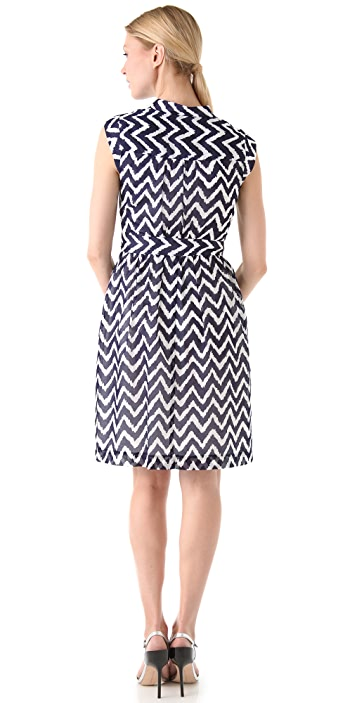 Milly Caroline Cap Sleeve Dress