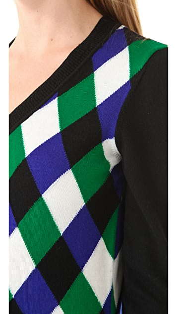 Milly Intarsia Jockey Sweater