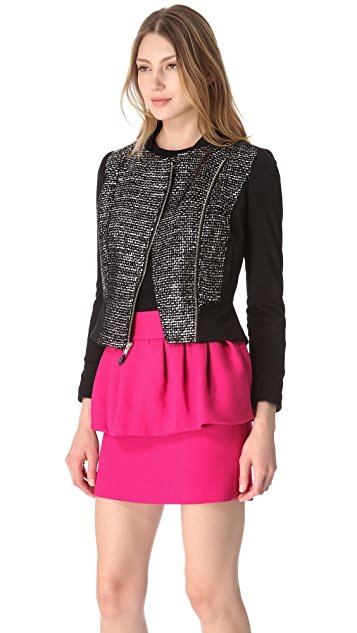 Milly Fitted Zoe Moto Jacket