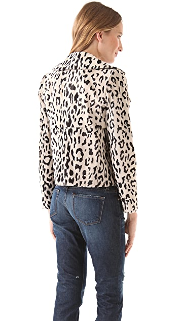 Milly Faux Fur Leopard Jacket