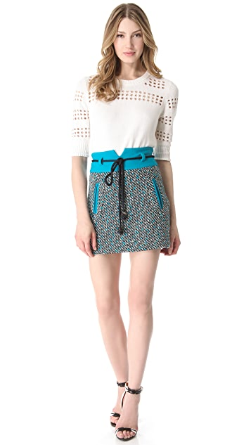 Milly Roberta Tweed Skirt