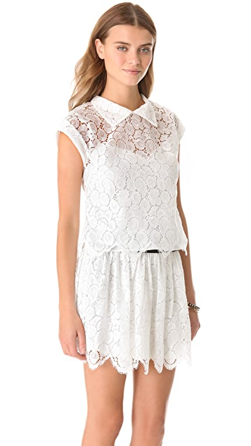 Milly Walker Lace Cropped Top