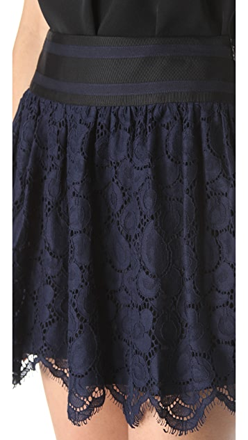 Milly Margaret Scalloped Lace Skirt