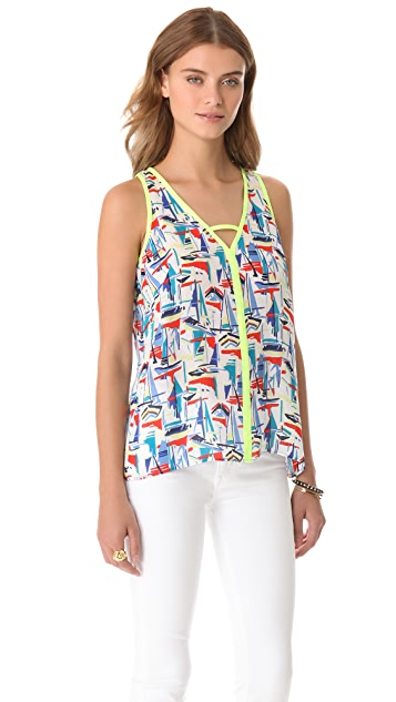 Milly Avery Sailboat Print Top
