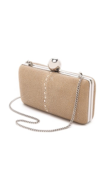 Milly Madison Shagreen Minaudiere