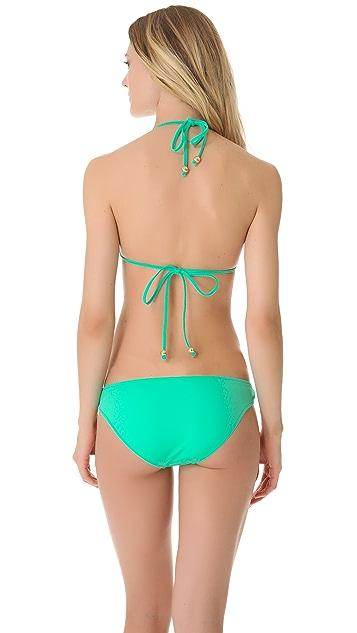 Milly Antibes Halter Bikini Top