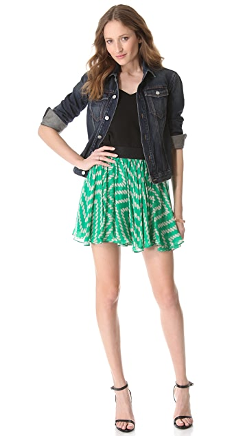 Milly Rissa Gathered Skirt
