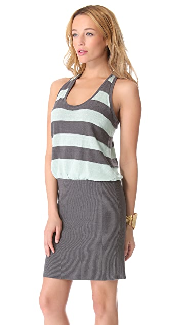 Milly Knit Striped Blouson Dress