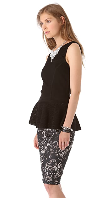 Milly Rainey Peplum Top