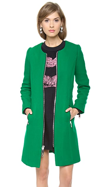 Milly Slim Zipper Coat