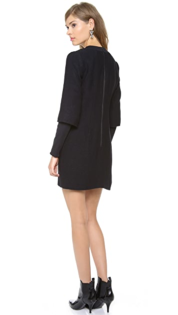 Milly Ribbed Sleeve Shift Dress