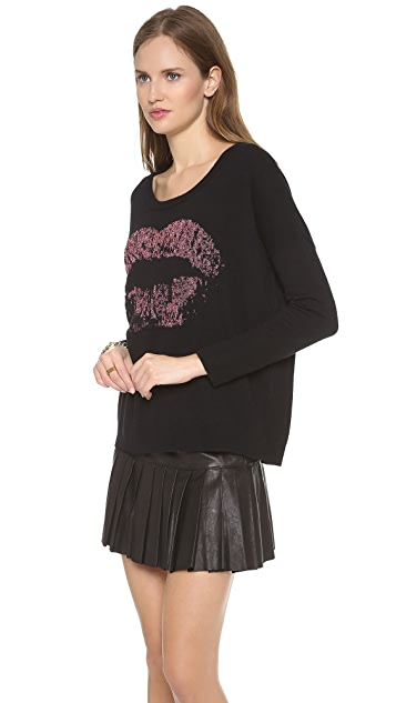 Milly Kiss Intarsia Sweater