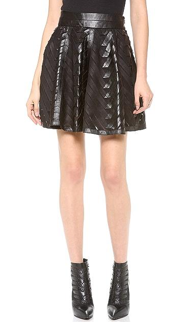 Milly Chevron Circle Skirt