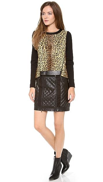 Milly Puff Sleeve Leopard Sweatshirt