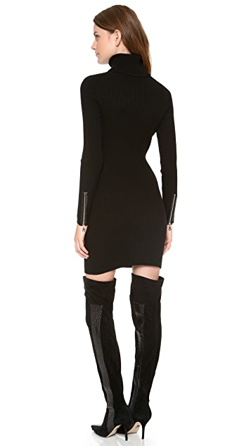 Milly Leather Pocket Knit Dress