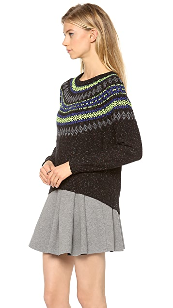 Milly Neon Fair Isle Sweater