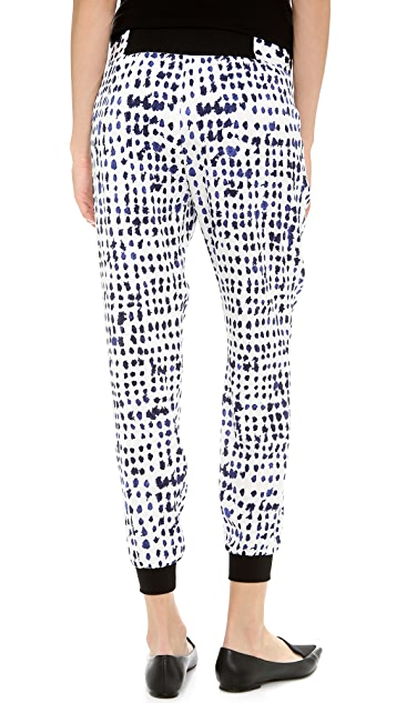 Milly Gathered Ribbed Pants