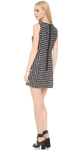 Milly Raw Edge Tweed Shift Dress