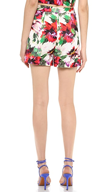 Milly Kelsey Floral Print Shorts
