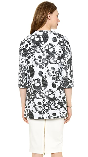 Milly Laughing Skulls Cocktail Coat