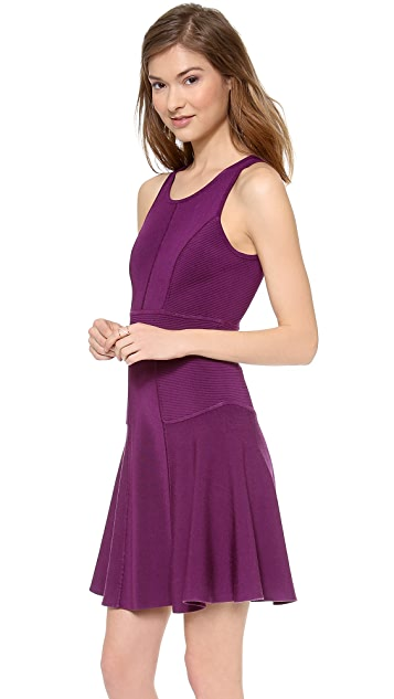 Milly Fit & Flare Stretch Dress