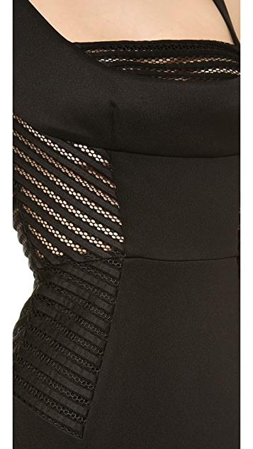 Milly Mesh Detail Sheath Dress