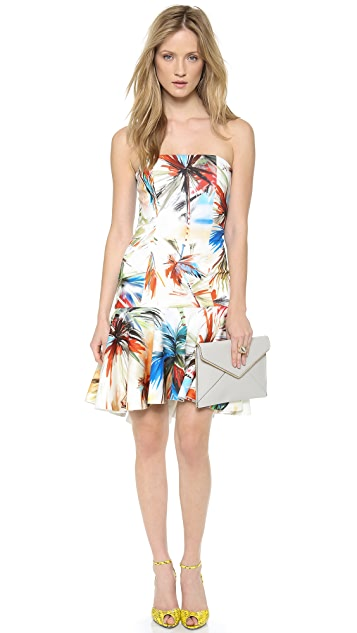 Milly Strapless Flare Dress