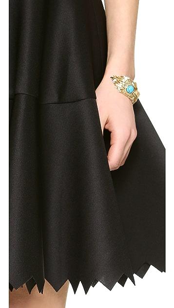Milly Lasercut Strapless Dress